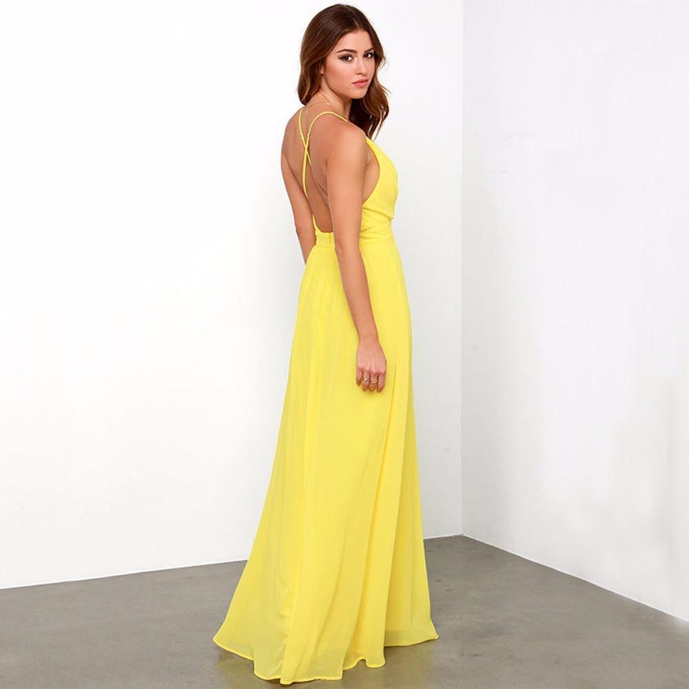 4a2064433 Cargando zoom... mujer fiesta vestido largo · vestido largo mujer amarillo  eveto fiesta coctel matrimonio