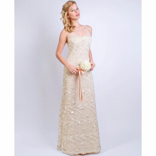 vestido largo natalia antolin - $ 8.000,00 en mercado libre
