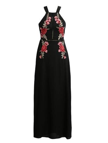 vestido largo  negro casual playa verano bohemia  va 338