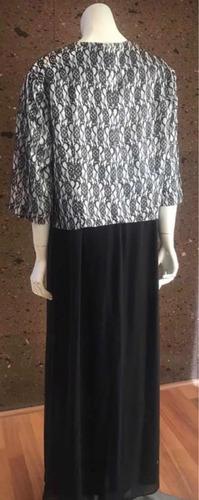vestido largo negro con plata talla 42