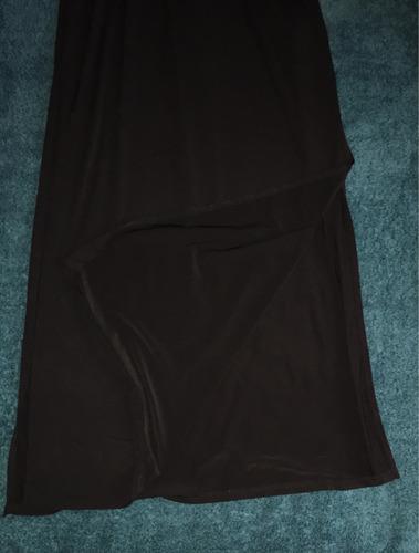 vestido largo (negro) de licra marca divieded