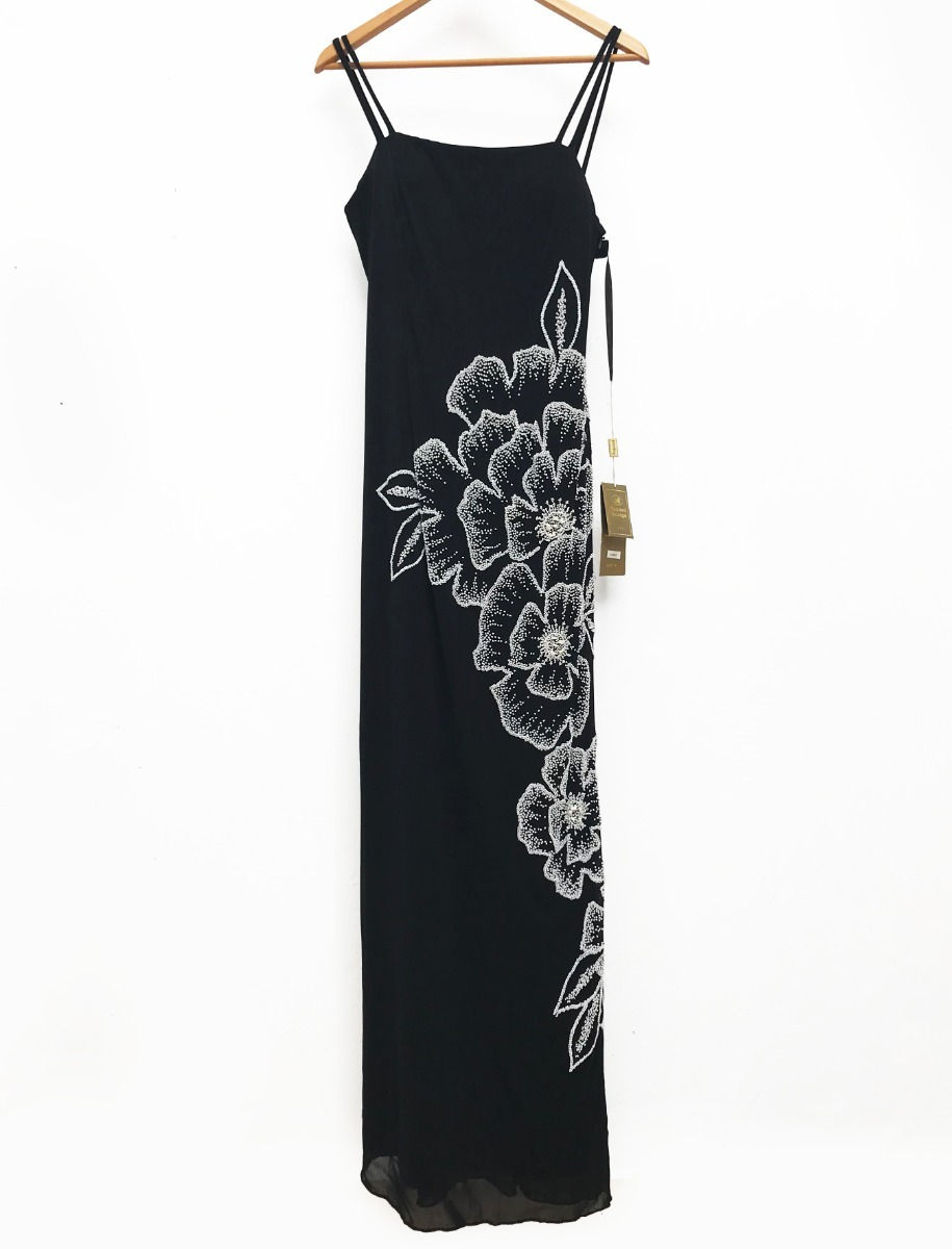 Vestido negro noche largo