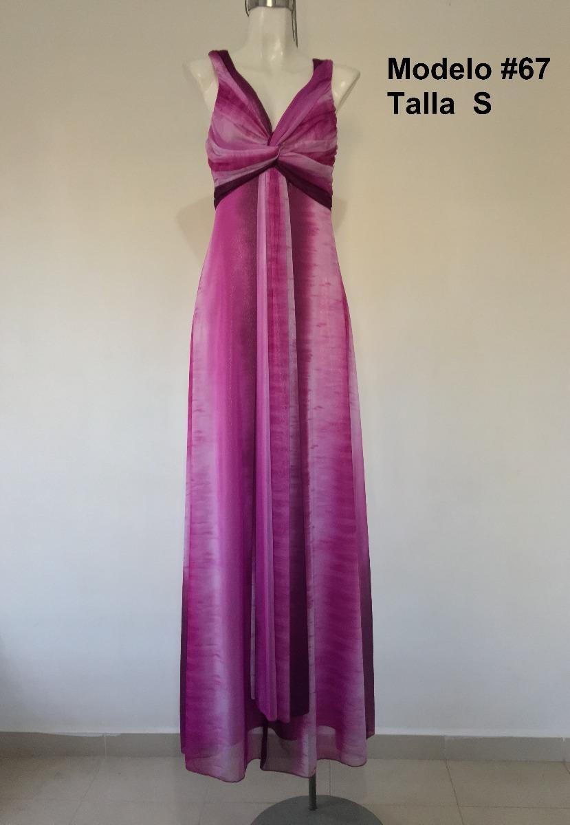 Vestido Largo Noche, Fiesta Color Rosa Y Morado Mod. V-067 ...