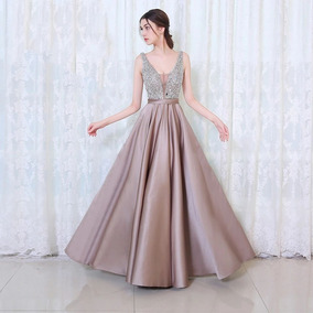 33a116e94 Vestidos De Noche Elegantes Largos Con Pedreria - Vestidos en ...
