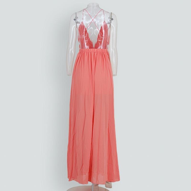 6bd696462 vestido largo noche fiesta tiras escote tirante boda dama. Cargando zoom.