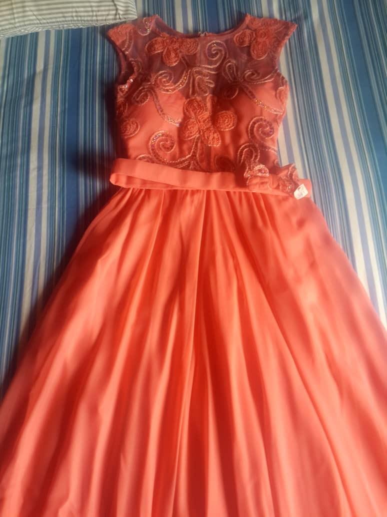 S Vestido Talla Para Largo 00 Fiesta Bs50 000 Escarlata Chiffon Color 0kOXw8nP