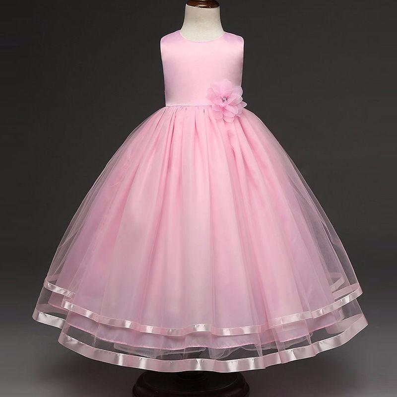 Vestido Largo Pink Princesa Fashion Elegante Fiesta Niña - $ 114.000 ...