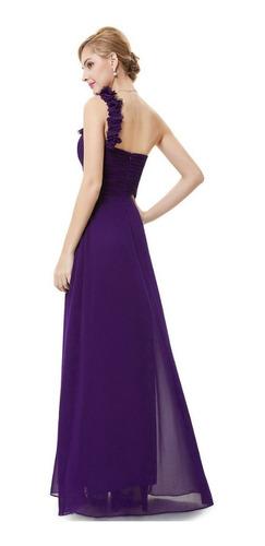 vestido largo purpura fiesta talla 10 modelo ep 96