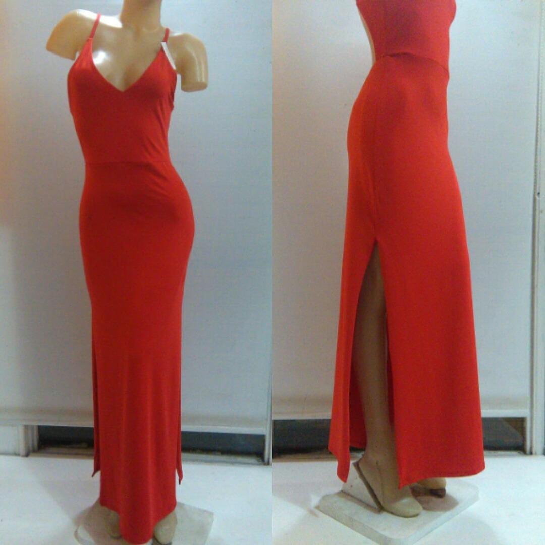 f66b1fbfa9 vestido largo rojo espalda descubierta. Cargando zoom.