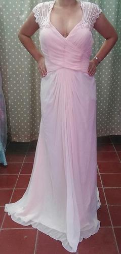 vestido largo rosa claro xl
