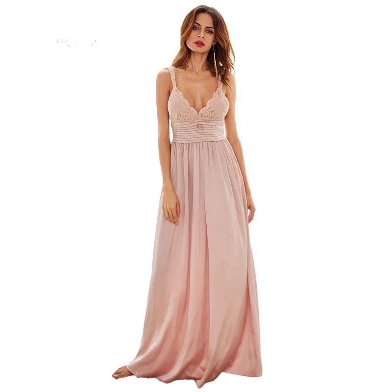 0151348d5 Vestido Largo Rosa Nude Importado De Fiesta -   6.100