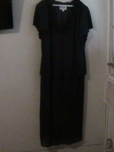 vestido largo talla 22   de dama usada