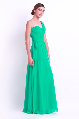 vestido largo verde turquesa