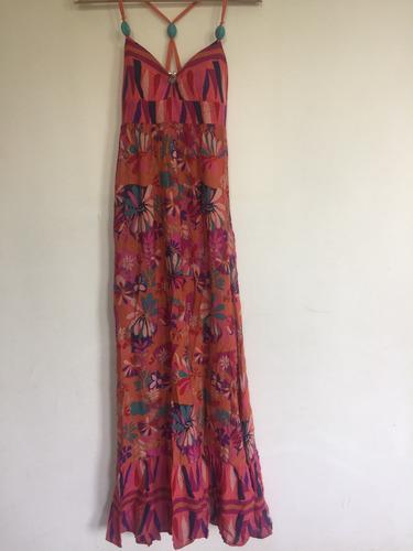 vestido largo zara talla m
