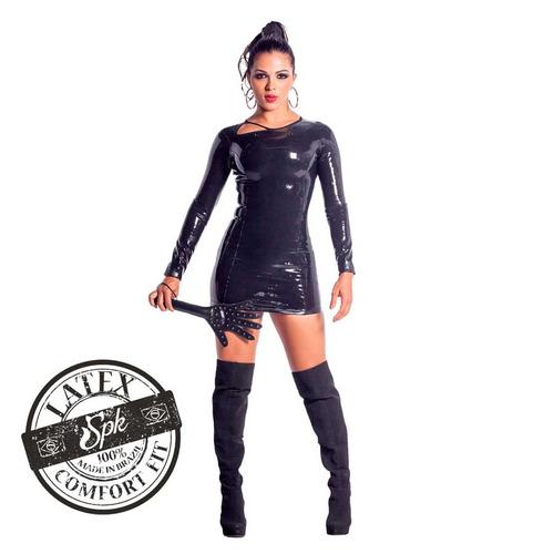 vestido latex original fantasia erótica luxo mulher gato spr