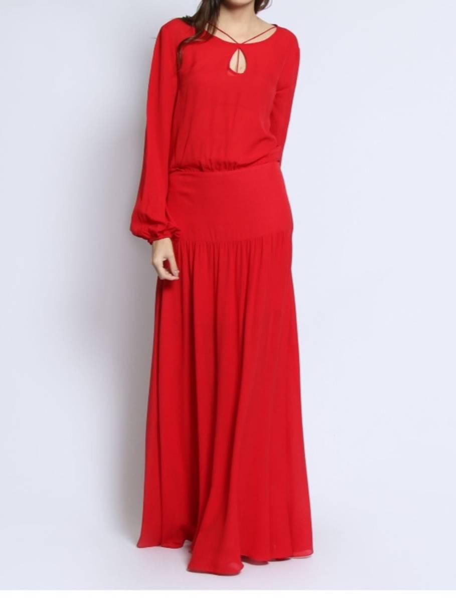 Vestido vermelho longo le lis blanc