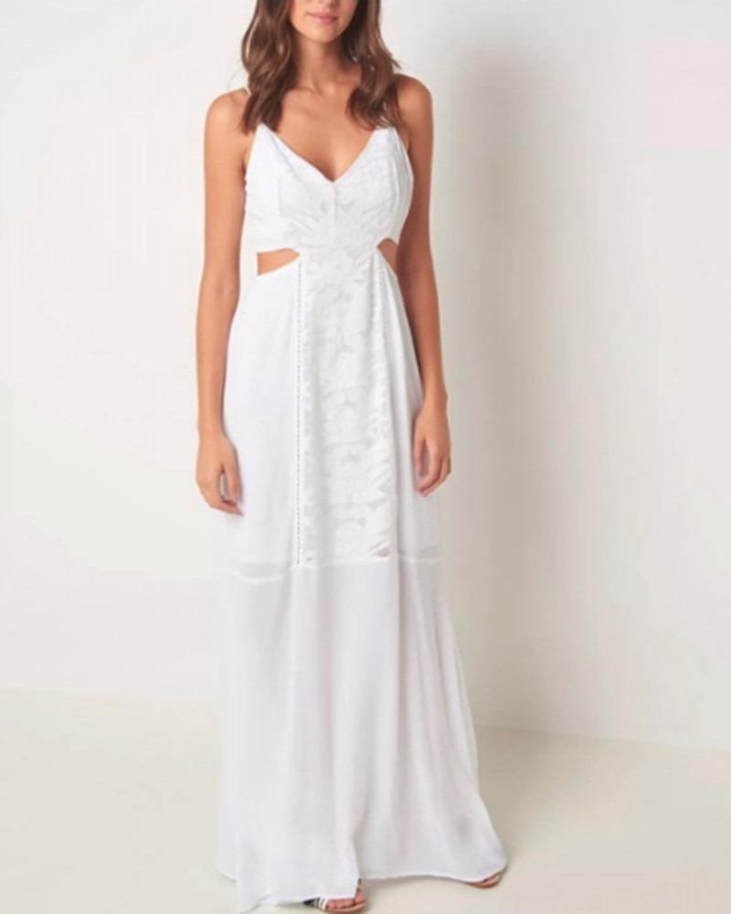 7a579fe18 vestido le lis blanc longo shopie. Carregando zoom.