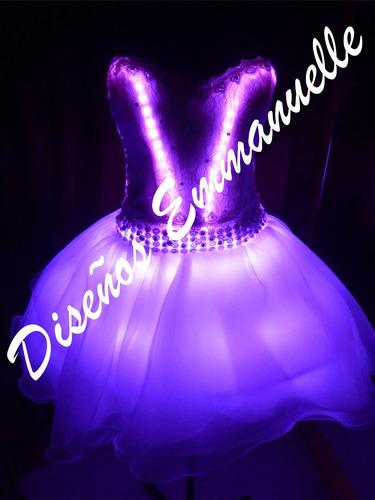 vestido led luces 15 años fiesta novias