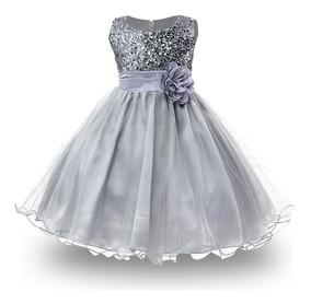 Vestido Lentejuela Elegante Fiesta Talla 5 8 Anos