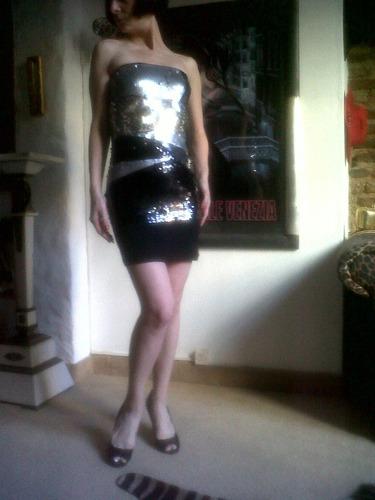 vestido lentejuelas glamour