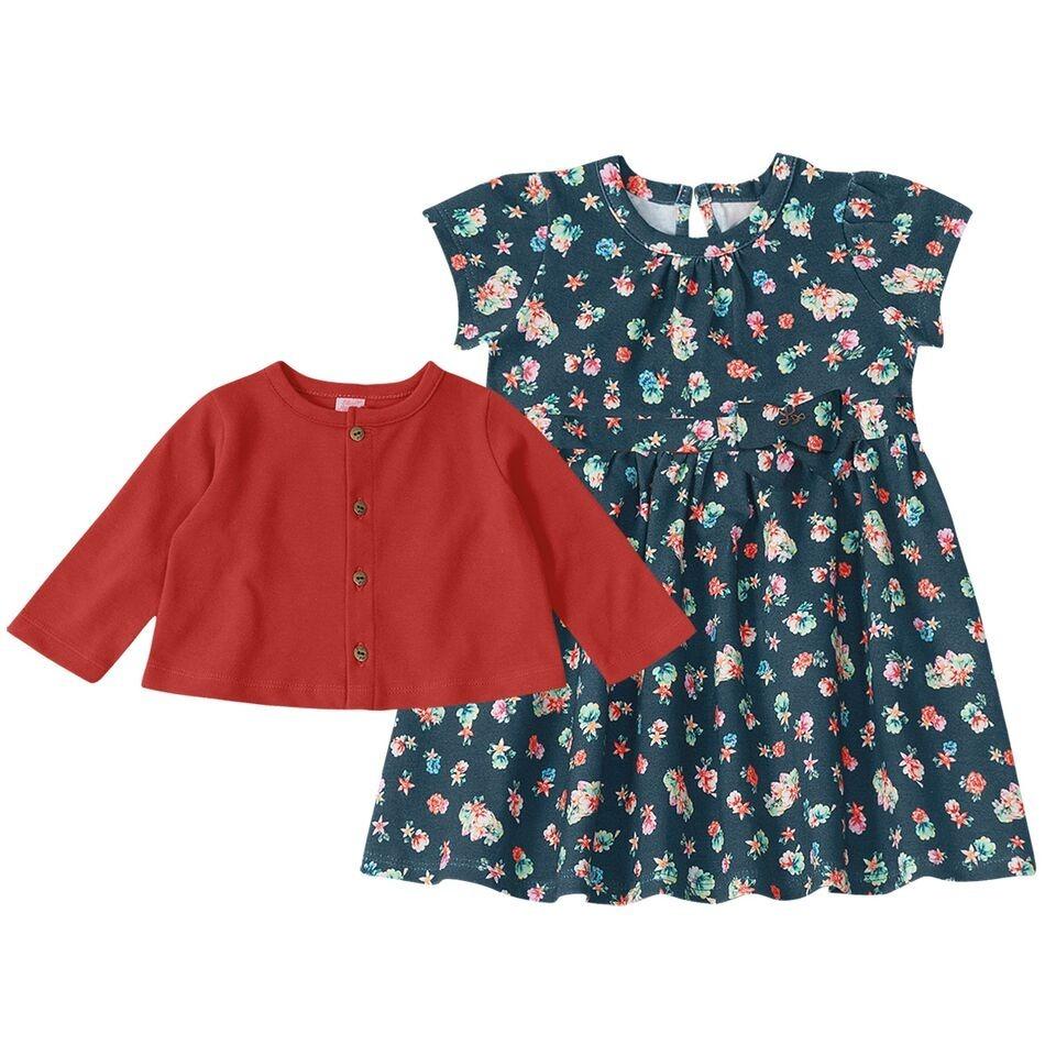 70870164b vestido lilica ripilica baby com casaco ref108075 original. Carregando zoom.