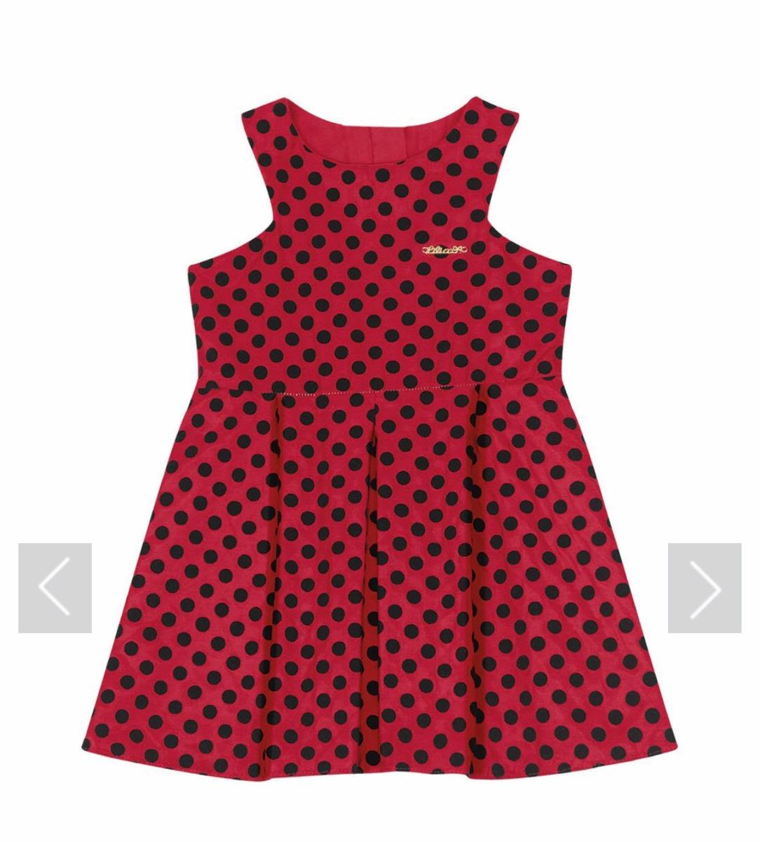9966b8952 Vestido Lilica Ripilica Baby Vermelho - R$ 169,00 em Mercado Livre