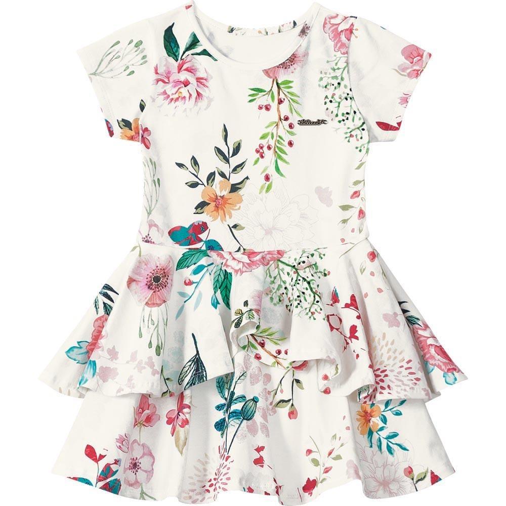 96e4acea5 Vestido Lilica Ripilica Menina Branco - Cor Branco - R$ 169,00 em ...