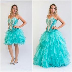 1c166ab3ce97 Vestidos De 15 Anos Roxo E Verde Agua - Vestidos com o Melhores Preços no  Mercado Livre Brasil