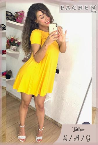 vestido linea a amarillo