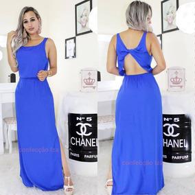 a1a0aa83c2b3 Vestido Longo Com Abertura Nas Pernas Vestidos Feminino - Calçados, Roupas  e Bolsas com o Melhores Preços no Mercado Livre Brasil