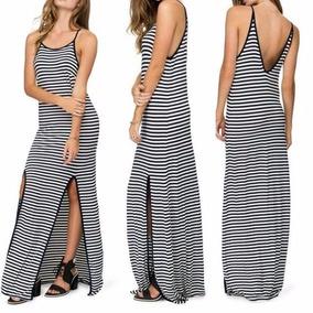 d3c373b2f5 Vestido Longo Abertura Perna Estampado - Vestidos Longos Femininas Preto no Mercado  Livre Brasil