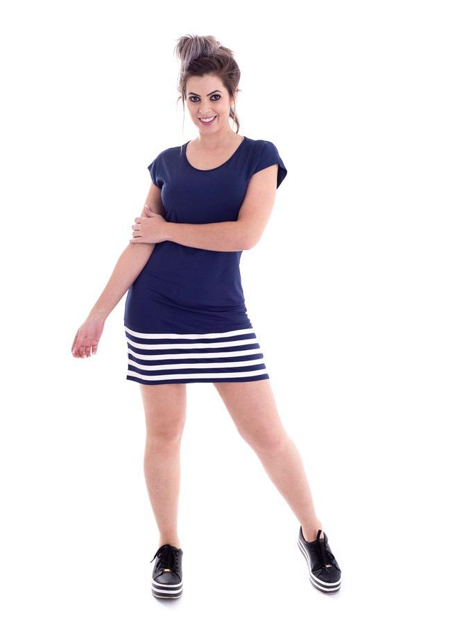25259e6be vestido listras rovitex feminino azul marinho 613148-03. Carregando zoom.