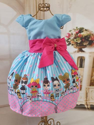 vestido lol suprise temático festa