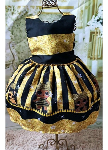 vestido lol surprise queen bee gliter super luxo