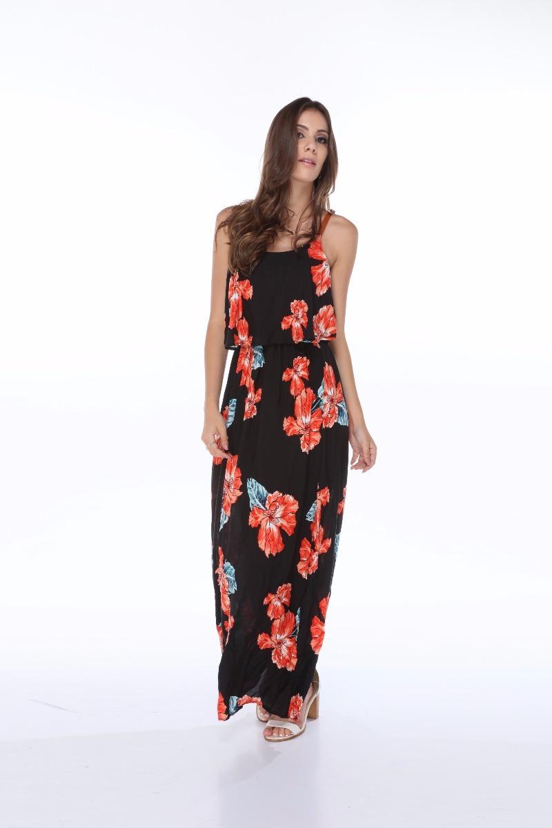 e332d742d4 vestido longo alcinha estampa floral verão 2018 tendencia. Carregando zoom.