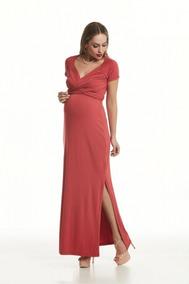 1a2e4b25ad Vestido Para Gestante Ideal Para Amamentação - Calçados