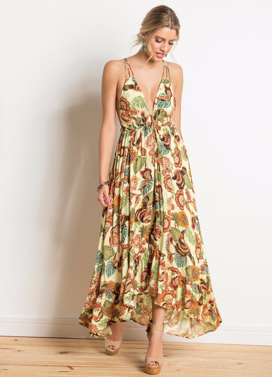 3e32811fd5 vestido longo amor de tucano verão 18 farm maravilhoso!!! Carregando zoom.