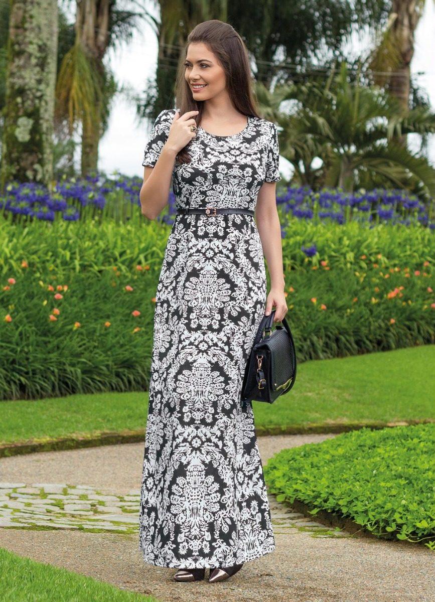 184bb6bfb8 vestido longo arabescos moda evangélica frete grátis. Carregando zoom.