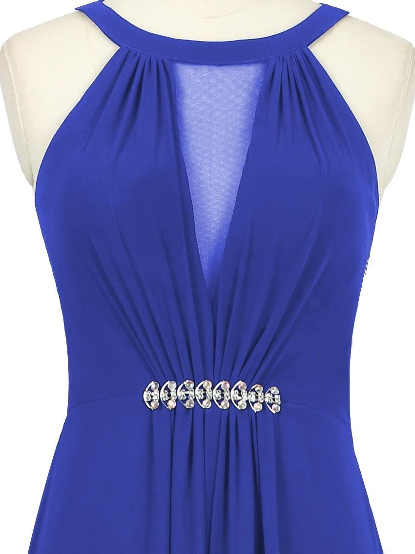 be31f49a0b vestido longo azul bic royal gg pronta entrega. Carregando zoom.