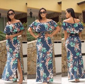 649477d671 Vestido Longo Ciganinha Com Fenda - Vestidos Femininos Casuais ...