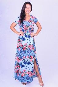 b6983eaf850f Vestido Azul - Vestidos Novo Longo em Amazonas com o Melhores Preços no  Mercado Livre Brasil