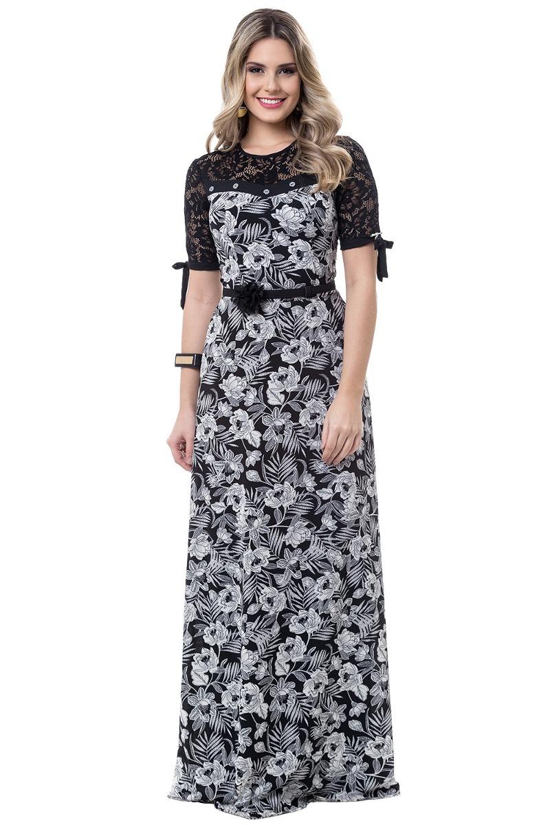 67c5447959 vestido longo bella herança crepe moda evangélica branco. Carregando zoom.