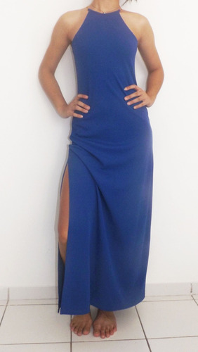 vestido longo blu k