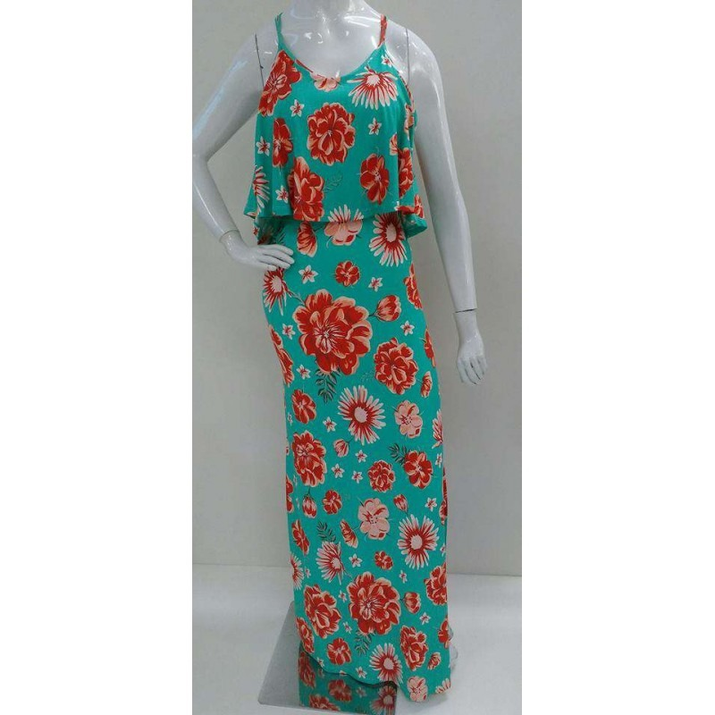 2fd746a292 vestido longo bojo e fenda luks - verde - delabela calçados. Carregando  zoom.