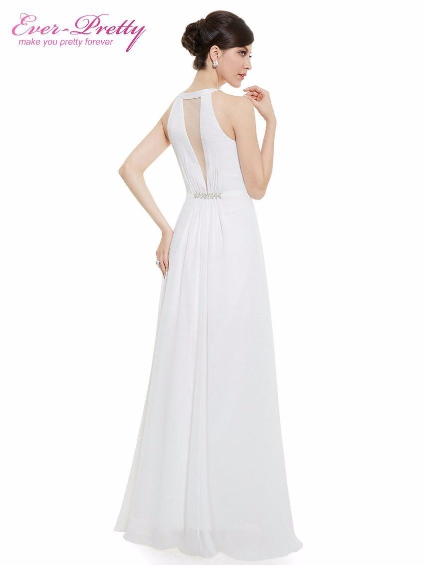 Vestido longo e simples para casamento no civil