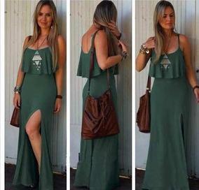 473759053c Vestido Feminino Com Nojo - Vestidos Femininas Verde musgo no ...