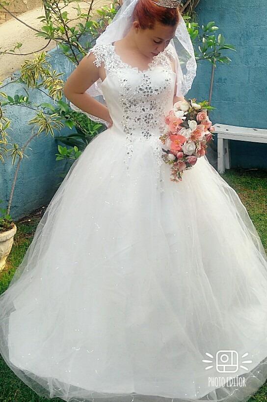 32930a6f5b vestido longo casamento vintag noiva princesa brinde anagua. Carregando zoom .