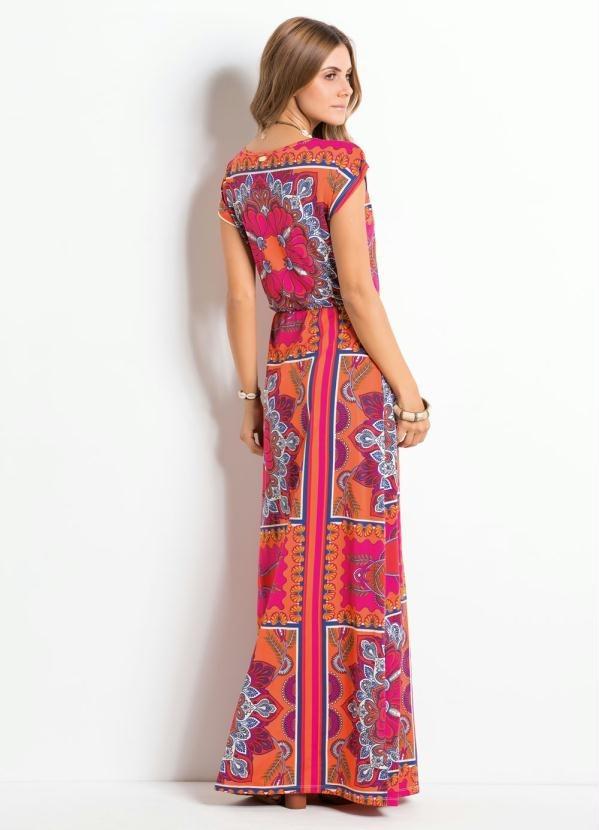 f7a320599c vestido longo casual estampado promoção ! barato. Carregando zoom.