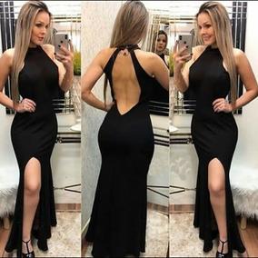 Blusinha Cavada De Costas Nua Vestidos Femeninos Preto Em