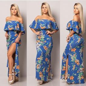 551620f116 Vestidos Longos Ciganinha Floral - Vestidos Femininos Casuais Longos ...